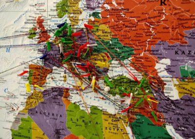 Ausschnitt Weltkarte